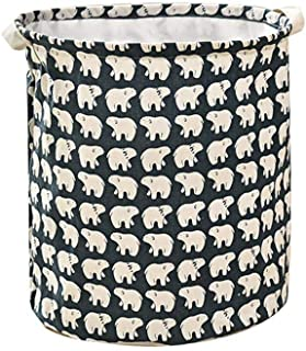 Dirty Clothes Laundry Storage Basket Foldable Clothes Basket Large Canvas 40 x 35cm Hamper Collapsible Box Ramadan Gift