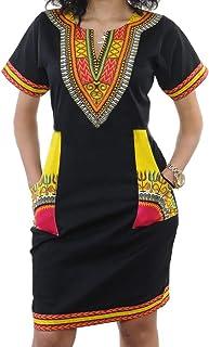 SheKiss Womens Bohemian African Dashiki Skirts Traditional Tribal Festival Midi Dresses