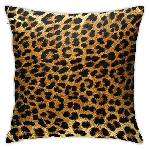 Fodera per cuscino di tiro Fodera per cuscino decorativo leopardo maculato 45cmx45cm Fodera per cuscino per divano letto