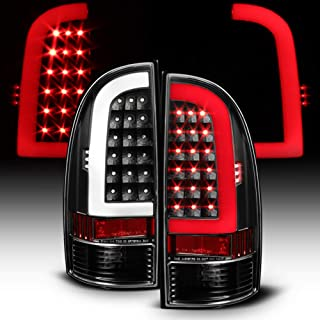 ACANII - For Blk [Light Bar Design] 2005-2015 Toyota Tacoma LED Tail Lights Brake Lamps