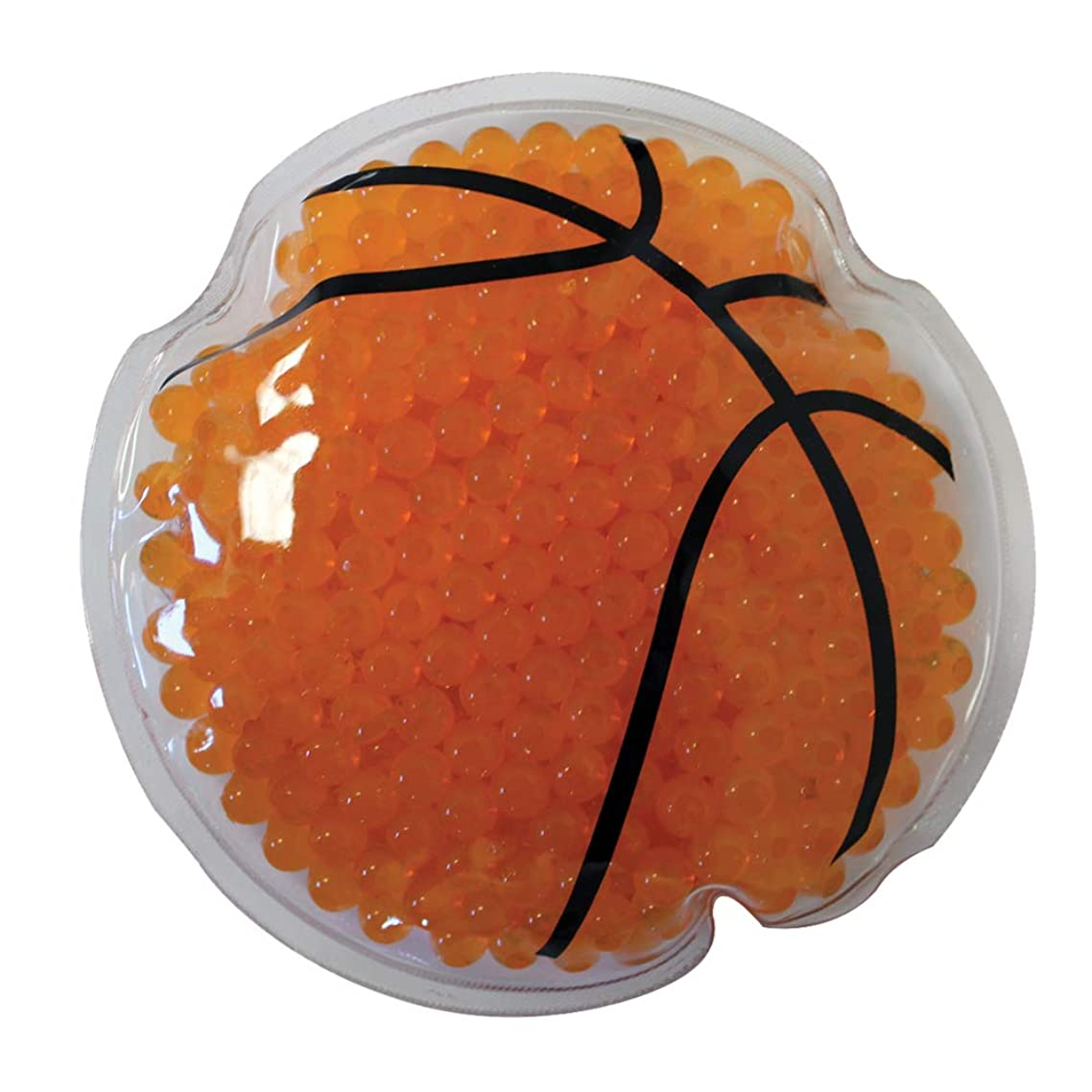 Sport Gel Bead Hot/Cold Pack - Reusable - Non-Toxic, Basketball, Set of 6