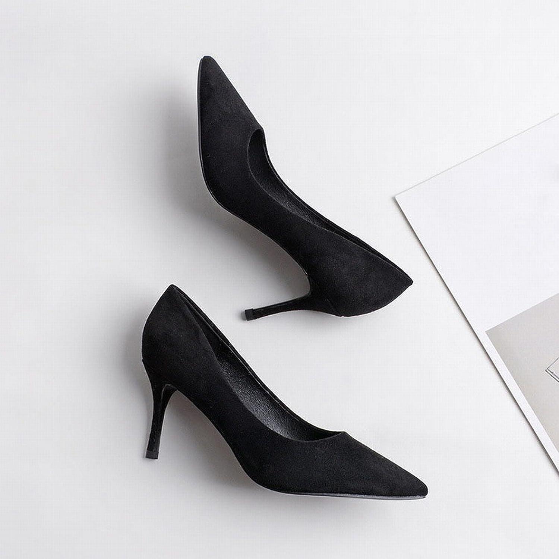 DHG Frau High Heel Spitze mit Feinen Wildleder Sexy Herbst Stöckelschuhe Huidong Schuhe High Heels Schuhe,Ein,36 B07FPGB5WN  Allgemeines Produkt