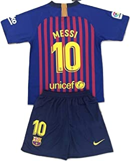 df96cf938 MilkaGGT Messi #10 FC Barcelona 2018-2019 Youths/Kids Home Soccer Jersey &