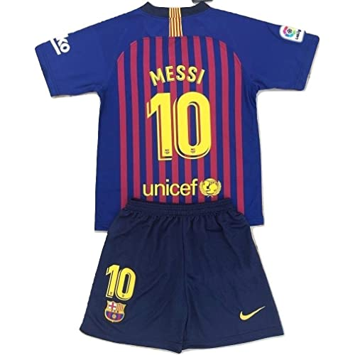 667372333 MilkaGGT Messi  10 FC Barcelona 2018-2019 Youths Kids Home Soccer Jersey