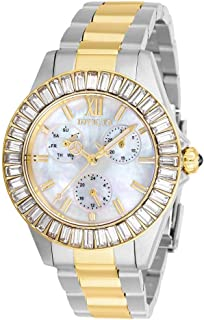 Invicta Women's Angel Quartz Watch with Stainless Steel Strap, Two Tone, 20 (Model: 28451)