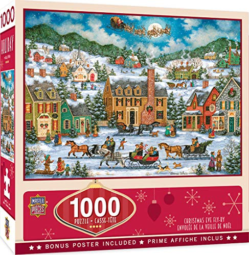 MasterPieces Seasonal Holiday Jigsaw Puzzle, Christmas Eve Fly By, Featuring Art by Bonnie White, 1000 Pieces -  MasterPieces PuzzleCompany, 71773