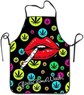 Cannabis Leaf Smoke Aprons For Women/men Lightweight Tailgate Waitress Cooking Funny Chef Apron