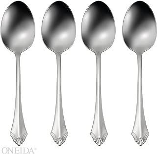 Oneida Kenwood Fine Flateware Set, 18/8 Stainless, Set of 4 Dinner Spoons
