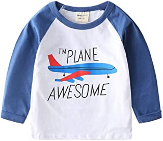 ZETIY Toddler Little Boys Chromatic Airplane Tees Shirts Tops