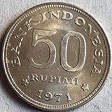 SHFGHJNM Colección de Monedas Indonesia 1971 Monedas extranjeras Memorial Coin 1721