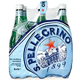 San Pelegrino - Agua mineral natural con gas, 6 botellas