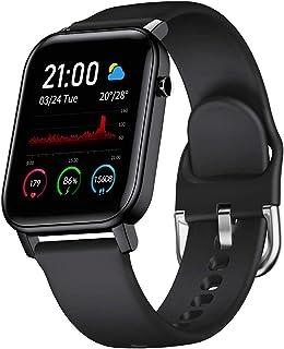 スマートウォッチ PUZESHUN 万歩計 活動量計 歩数計 多機能 腕時計 消費カロリー 1.4 HDカラー画面 Bluetooth5.0 IP68防水 GPS運動記録 着信 電話/Twitter/WhatsApp/Line通知 24時間自動...