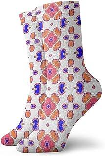 Kevin-Shop, Calcetines Tobilleros de Patrones sin Fisuras geométricos Calcetines Casuales y acogedores para Hombres, Mujeres, niños