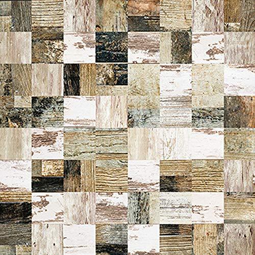 Fupeiwen 25pcs Adhesive Wallpaper, Selbstklebende wasserdichte Vinylfliesenaufkleber, Stick Tile Decals zum Dekorieren Wohnzimmer Küche Schlafzimmermöbel, 15 x 15cm,D