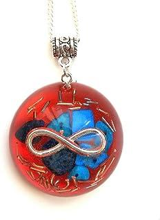 Infinito piedras de orgonita minerales energía amuleto colgante rojo protección de resina de orgón