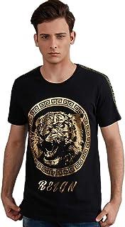Gochange Mens Graphic Tee Yoga Casual Fashion Tshirts Short Sleeve Cotton Foil