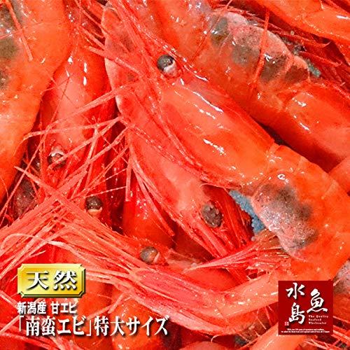 魚水島 新潟産「特上・特大甘エビ」(南蛮エビ・刺身用)1kg (冷凍)