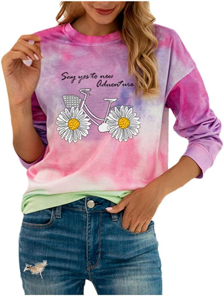 Forwelly Oversize T Shirt Women Funny Graphic Print Top with Slogan Short Sleeve Crewneck Tee Casual Blouse Pullover