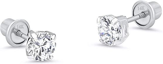 infant earrings white gold