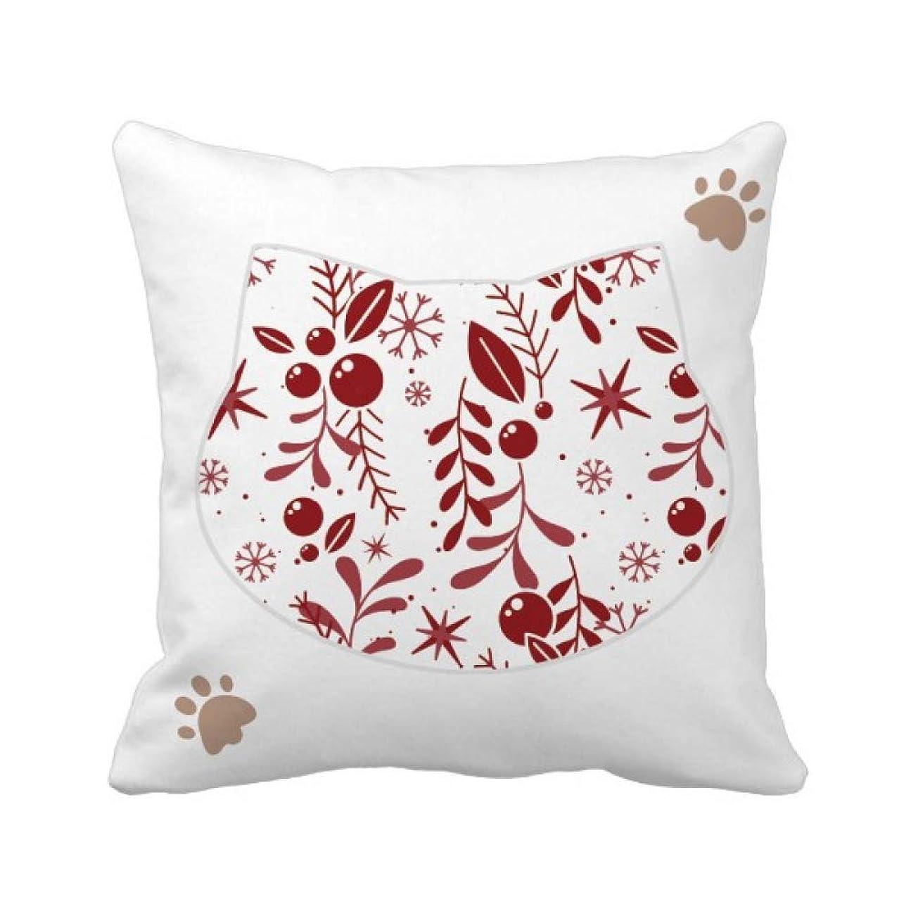 丈夫終わった優雅クリスマスの赤白の装飾のパターン 枕カバーを放り投げる猫広場 50cm x 50cm