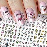 12 Sheets hello kitty nail stickers Cat Nail...