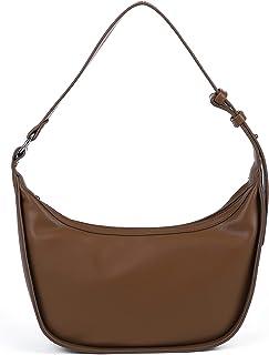 حقائب الكتف الصغيرة للنساء عارضة هوبو حقائب اليد جلد فوكس حقائب مع سحاب علوي، خفيفة الوزن