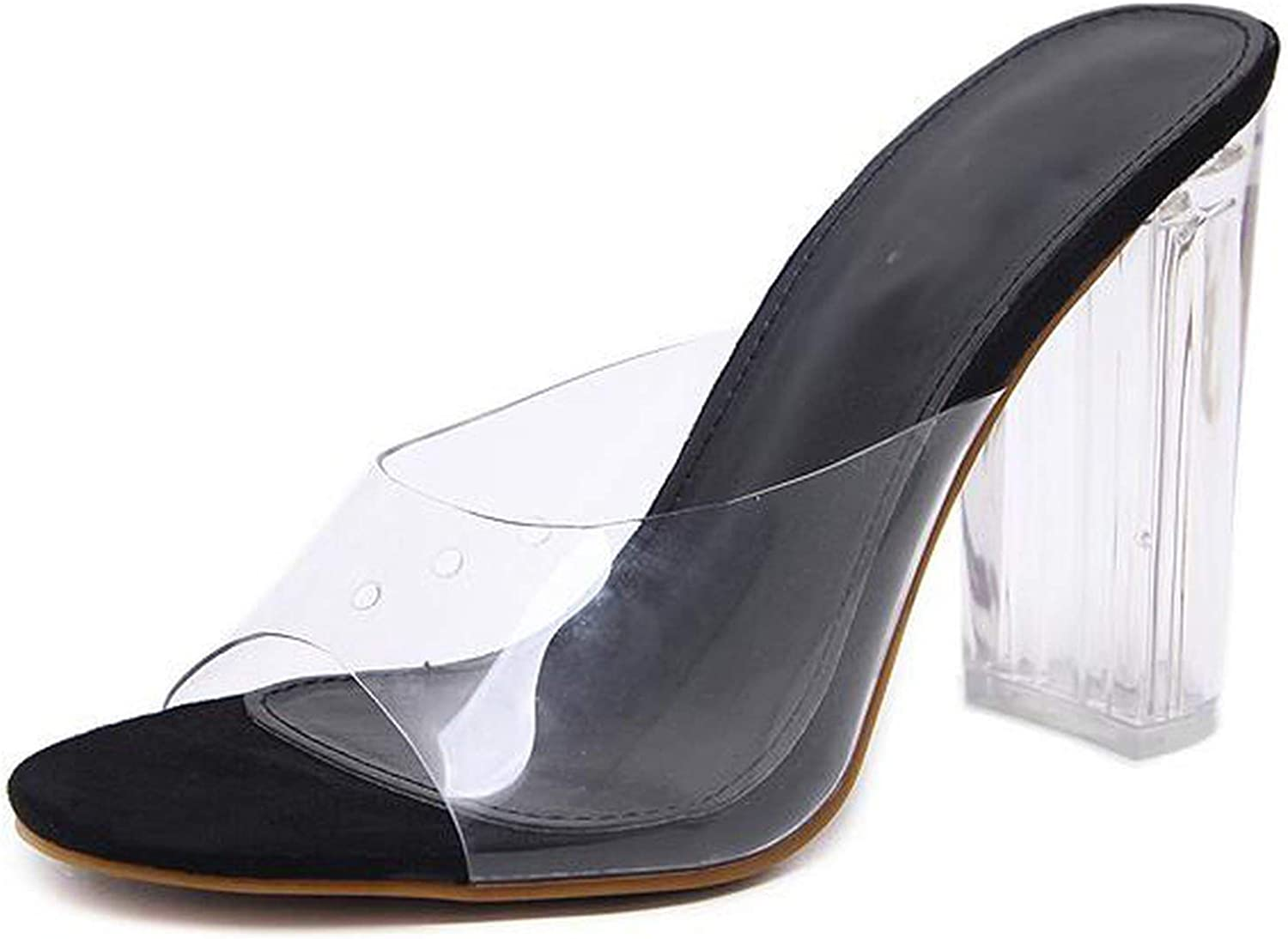 Peony red Women Sandals PVC Crystal Heel Transparent Women Sexy Clear High Heels Summer Sandals Pumps shoes Size 41 42