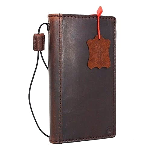 405bdbdbfbb2 Genuine Full Leather Case for Samsung Galaxy Note 5 Book Pro Wallet cover  slim brown Handmade