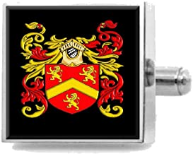 Select Gifts Owen Wales Family Crest Surname Coat Of Arms Tie Clip Engraved In Pouch