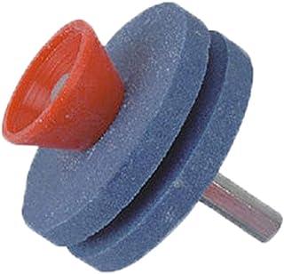 iBàste Afilador de cortacésped Herramienta de molienda Afilador de cerámica de alúmina para Taladro Manual de cortacésped neumático
