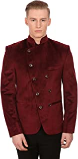 Men's Velvet Grandad Collar Ceremony Blazer - Seven Colors