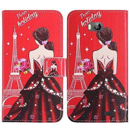 TienJueShi Traumfrau Flip Book-Style Brief Leder Tasche Schutz Hulle Handy Hülle Abdeckung Fall Wallet Cover Etui Skin Fur TP-Link Neffos C5 Max 5.5 inch
