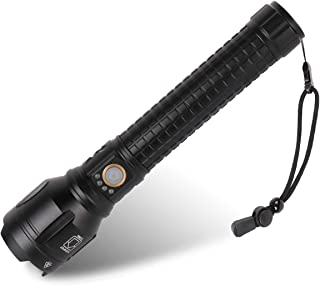 Rechargeable Led Flashlight, 90000 Lumens Super Bright Flashlights High Lumens with 26650 Batteries Included, 3 Modes, Zoo...
