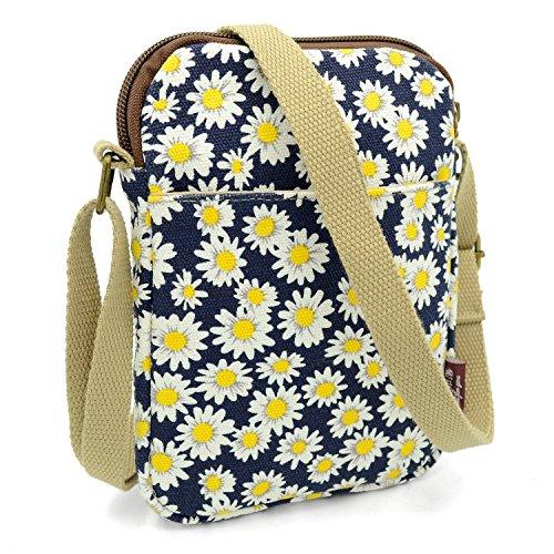 Mopaclle Mädchen klein Bezaubernd Umhängetasche Brieftasche Geldbeutel Handy Taschen für iphone 7 Plus,Samsung Galaxy S8 Plus (Chrysantheme)