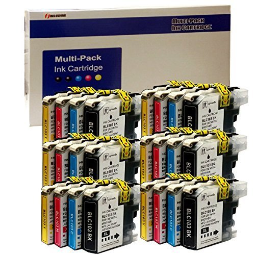 ink4work 24 Pack New Replacement Ink Cartridge for Brother LC103XL LC-103XL DCP-J152W MFC-J245 MFC-J285DW MFC-J450DW MFC-J470DW MFC-J475DW MFC-J650DW MFC-J870DW MFC-J875D.