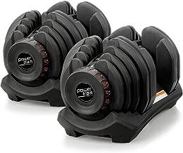 Pair Powertrain Adjustable Dumbbell Set - 80kg total weight