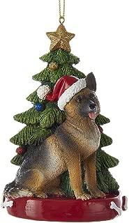 Kurt Adler 4.25-Inch Resin German Shepherd Ornament