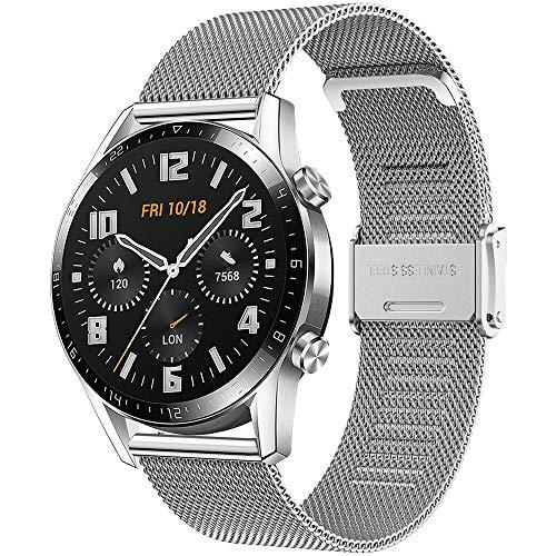 Songsier Correa Compatible con Huawei Watch GT2 Pro 46mm/Watch GT 46mm/Watch GT Active/Watch 2 Classic/Galaxy Watch 3 45mm/Galaxy Watch 46mm/Gear S3/Gear 2, Correa de Repuesto de 22 mm