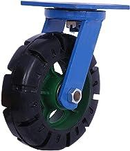 2 stks Heavy Duty Casters 10 / 12in Directional Castors/Swivel Casters/Remwielen Rubberen wielen lager tot 1000 kg voor tr...