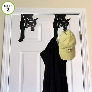Evelots Over The Door Hanger Hooks-Kitty Cat-20 Pound ea.-No Tool-Iron-Set/2