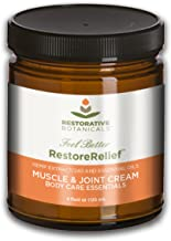 Restore Relief 240 mg Hemp Oil Extract - Cooling Muscle & Joint Relief Cream (120ml) with Hemp Extract