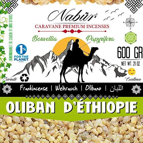 Nabür Oliban Incienso de Etiopía 200 GR Granos Premio Grado A 2019 Escogido a Mano Alto Contenido...
