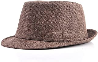 ZFDM Summer Sun Hat、ニュートラルリネンシェードJazz Hat Beach Hat (Color : Coffee color)