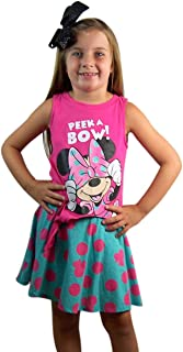 Disney Minnie Mouse Skirt, Teal with Pink Polka Dots Girl's Skort