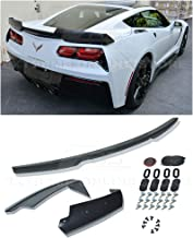 Extreme Online Store Replacement for 2014-2019 Chevrolet Corvette C7 All Models | Z06 Z07 Stage 2 Style Rear Trunk Lid Wing Spoiler (ABS Plastic - Primer Black)