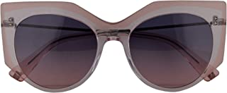 Valentino VA 4033 Sunglasses Crystal Transparent Pink w/Blue Gradient Rose Lens 53mm 5084I6 VA4033S VA4033/S VA4033