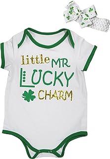 Societee O Baby Clover St Patricks Day Lucky Green Little Kids Girls Boys Toddler T-Shirt