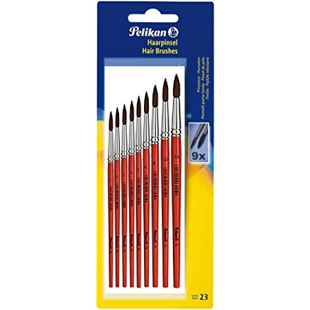 Pelikan 700382 Haarpinsel Sorte 23 3 Gr/ö/ßen: 4 6 und 8 3 St/ück