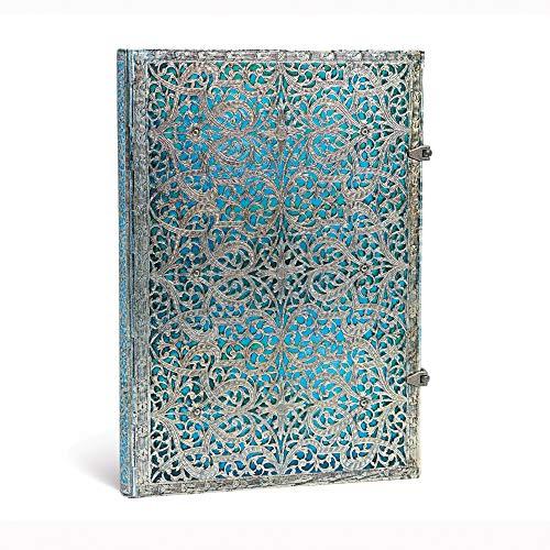 Paperblanks Hardcover Notizbücher Silberfiligran-Kollektion   Unliniert   Grande (210 × 300 mm) (Silver Filigree Collection)
