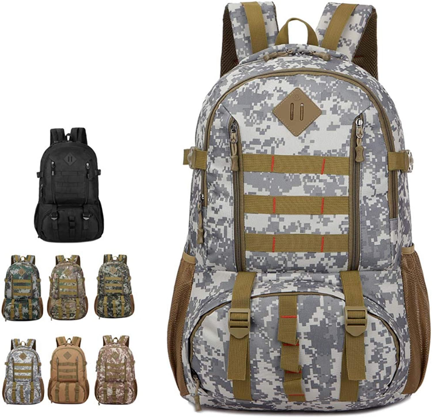Camouflage 50L Outdoor Backpack Adult Multifunction Mountaineering Bag for Camping Hunting Trekking Travel